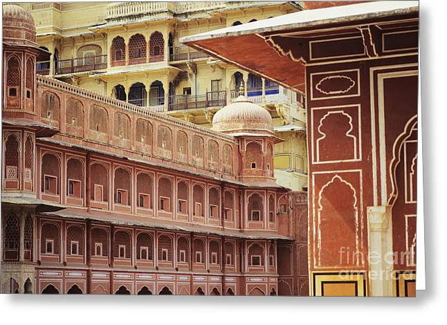 Jaipur City Palace Greeting Card by Kyle Rothenborg - Printscapes