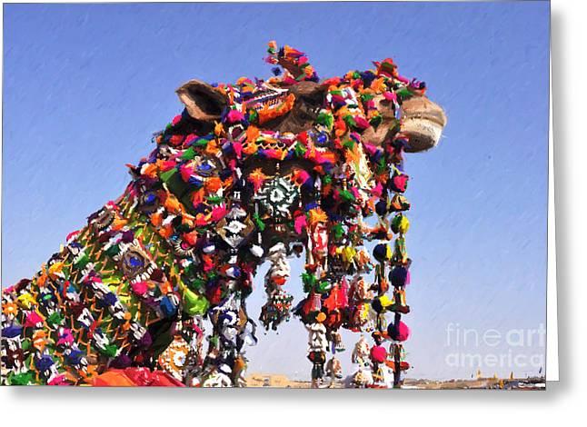 Jaisalmer Desert Festival-5 Greeting Card