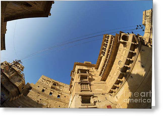 Greeting Card featuring the photograph Jaisalmer Fort by Yew Kwang