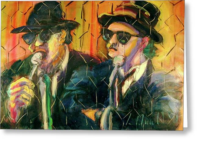 Jake And Elwood Greeting Card