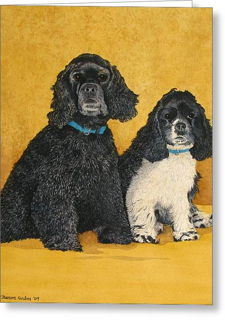 Jake And Lucy Greeting Card by Sharon Farber
