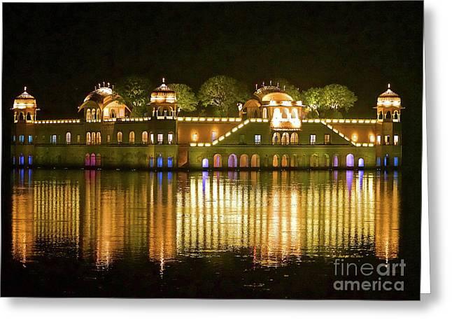 Jal Palace At Night Greeting Card