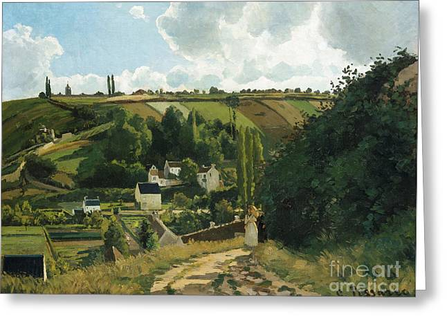 Jalais Hill At Pontoise Greeting Card by Camille Pissarro