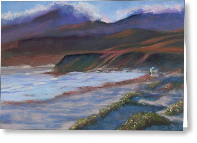 Jalama Beach At Sunset Greeting Card by Laurie Paci