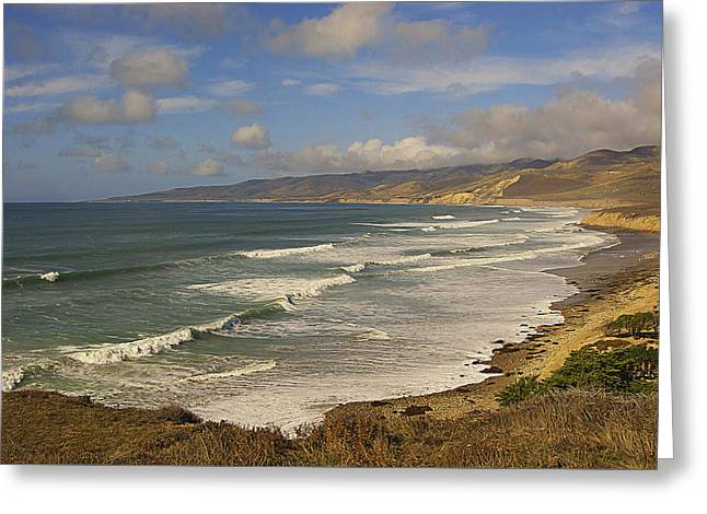 Jalama Beach From Blufftop Greeting Card by Ron Regalado