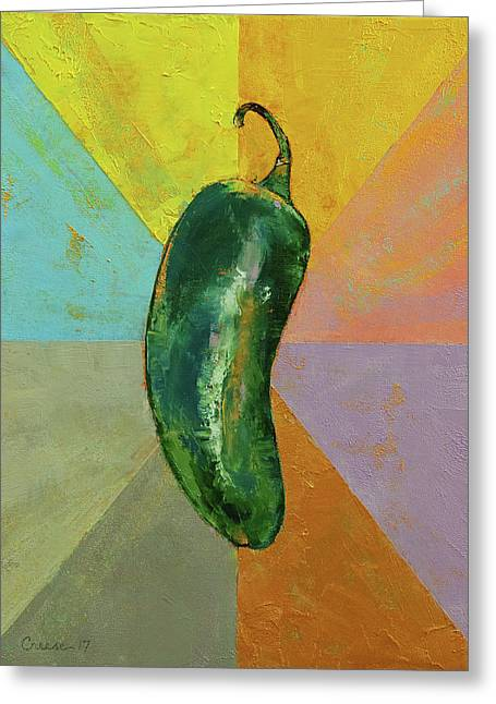 Jalapeno Greeting Card
