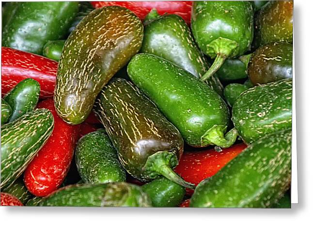 Jalapeno Greeting Cards - Jalapenos Greeting Card by Brian Mollenkopf