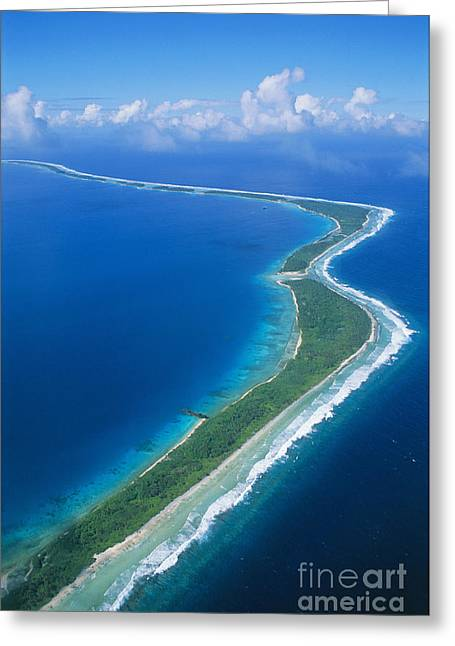 Jaluit Atoll And Lagoon Greeting Card by Greg Vaughn - Printscapes