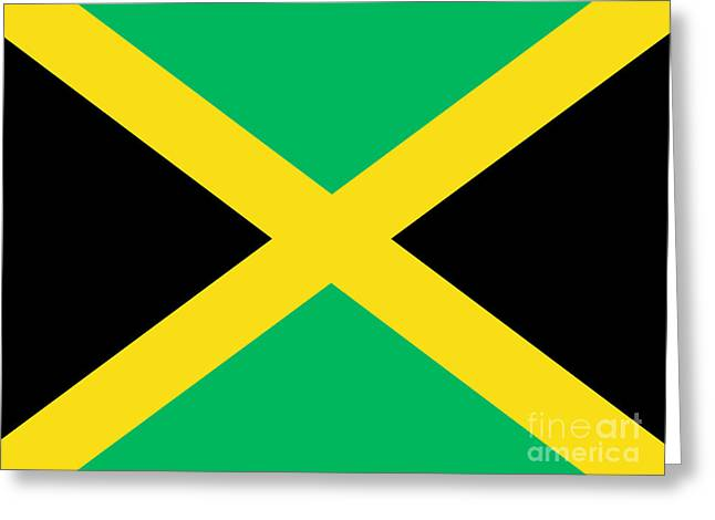 Jamaican Flag Greeting Card by Steev Stamford