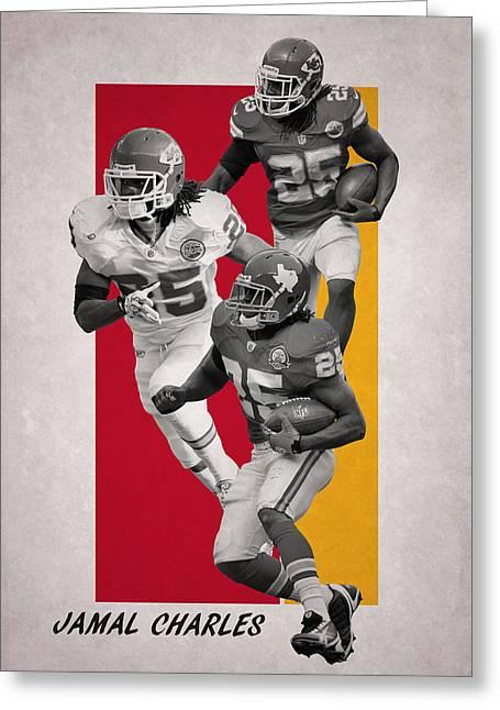 Jamal Charles Kansas City Chiefs Greeting Card by Joe Hamilton