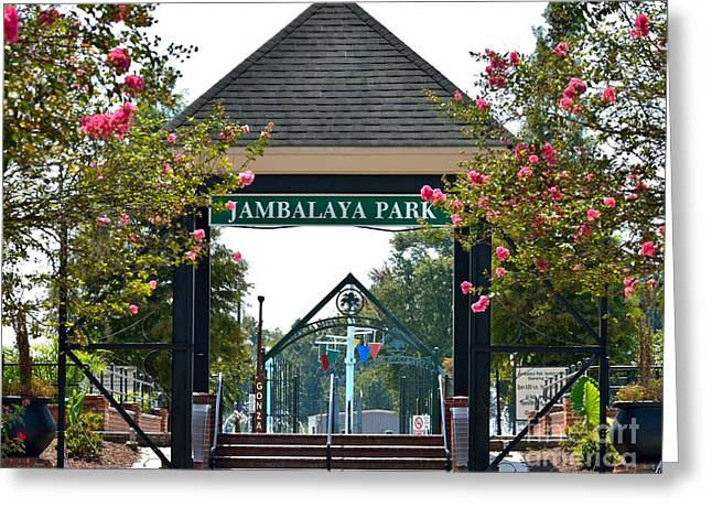Jambalaya Park In Gonzales Louisiana Greeting Card