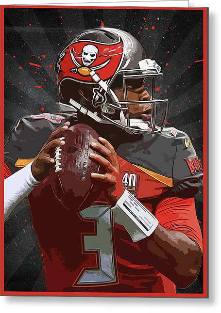 Jameis Winston Greeting Card by Semih Yurdabak