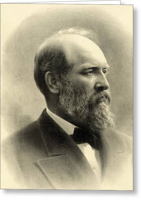 James A Garfield - President Of The United States Of America Greeting Card by International  Images