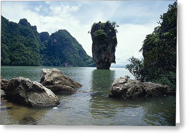 James Bond Island, A Limestone Greeting Card by Jason Edwards
