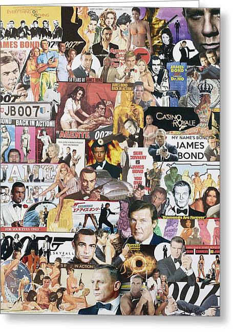 James Bond Greeting Card by Marijo Communier