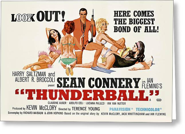 James Bond Thunderball Lobby Poster  1965 Greeting Card by Daniel Hagerman