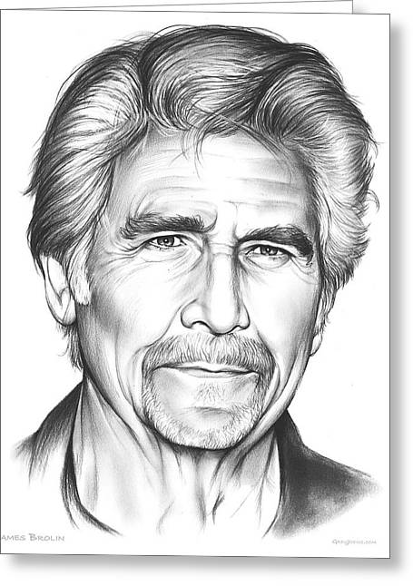 James Brolin Greeting Card by Greg Joens
