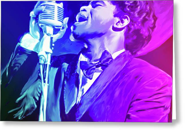 James Brown Greeting Card by Greg Joens