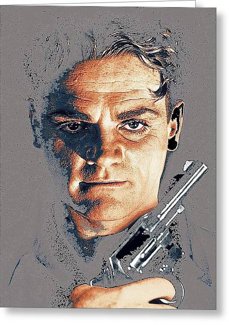 James Cagney Angels With Dirty Faces Close-up Publicity Photo 1939-2008 Greeting Card by David Lee Guss