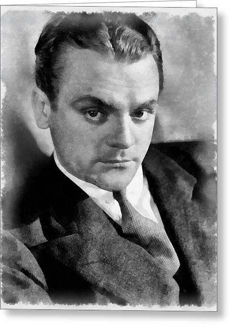 James Cagney By John Springfield Greeting Card