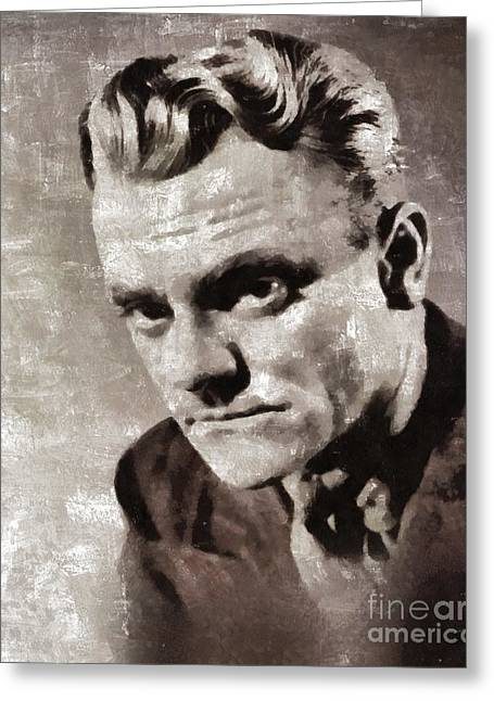 James Cagney By Mary Bassett Greeting Card