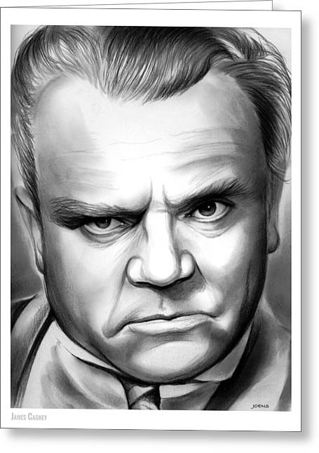 James Cagney Greeting Card by Greg Joens