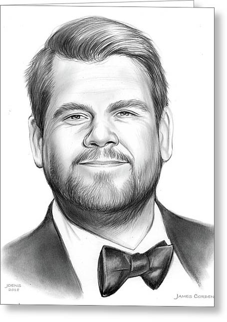 James Corden Greeting Card