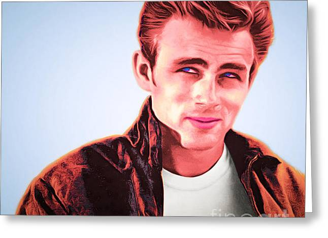 James Dean 20160415 Square Greeting Card by Wingsdomain Art and Photography