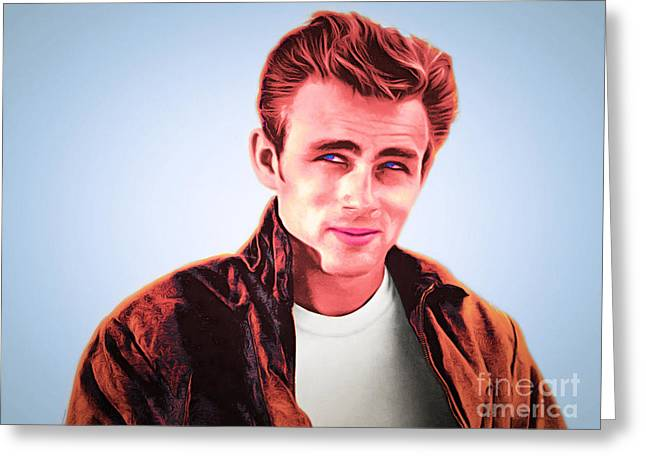 James Dean 20160415 Greeting Card by Wingsdomain Art and Photography