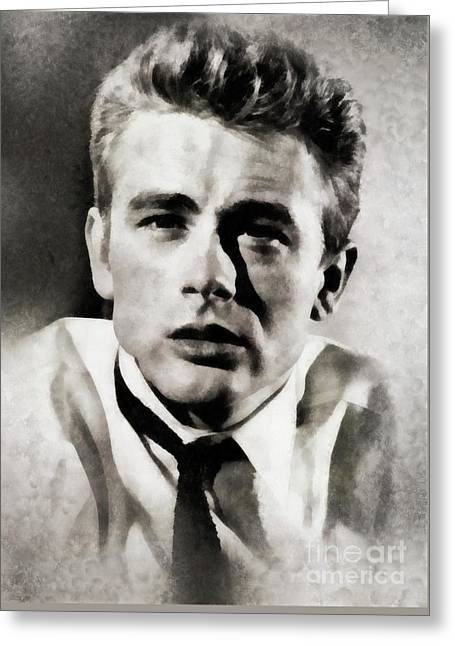James Dean, Actor By Js Greeting Card