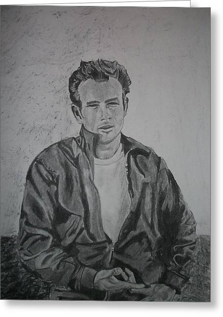 James Dean Drawings Greeting Cards - James Dean Greeting Card by Christian Fralick