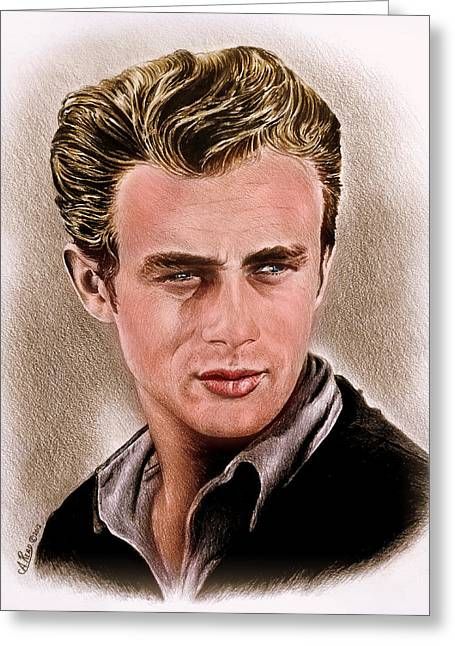 James Dean Colour Edit Greeting Card