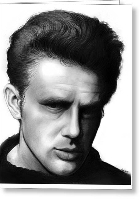 James Dean Greeting Card by Greg Joens