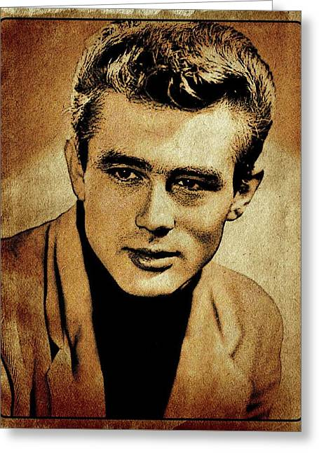 James Dean Hollywood Legend Greeting Card by Esoterica Art Agency