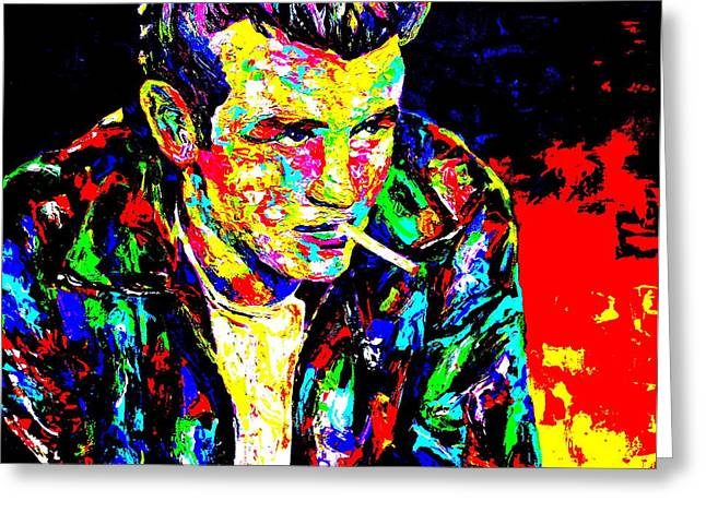 Mike Obrien Greeting Cards - James Dean Greeting Card by Mike OBrien