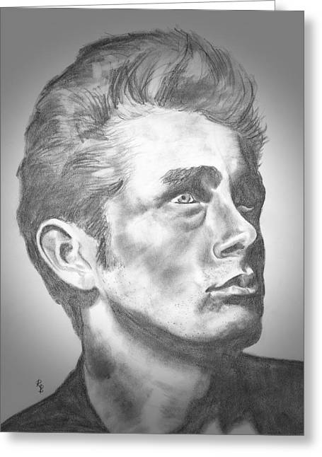 James Dean Greeting Card by Ryan Bell