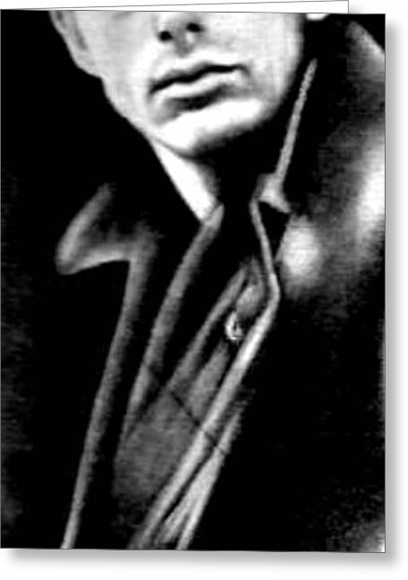 James Dean Drawings Greeting Cards - James Dean Greeting Card by Steve Baker Sanfellipo