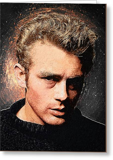 James Dean Greeting Card by Taylan Apukovska