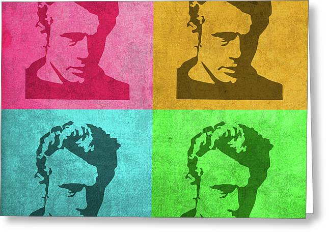 James Dean Vintage Pop Art Greeting Card by Design Turnpike