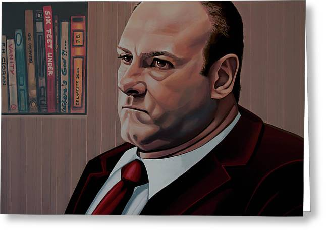 James Gandolfini Painting Greeting Card