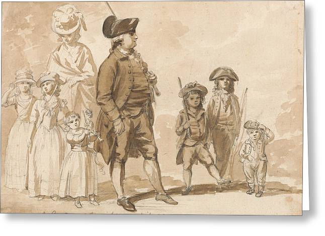 James Gandon And Family Greeting Card