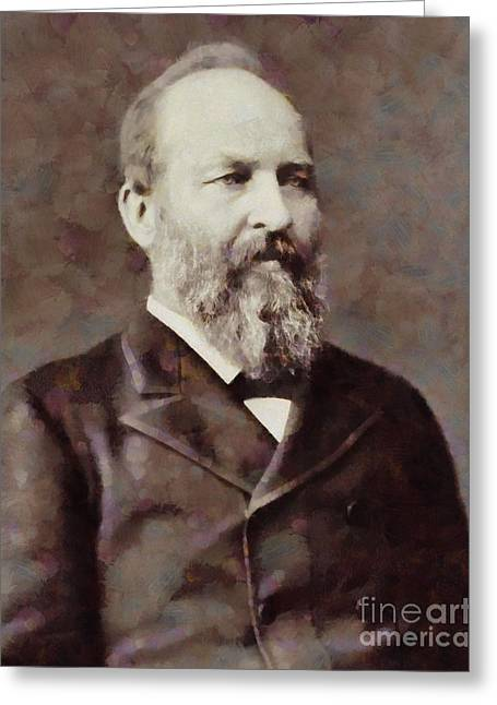 James Garfield, President Of The United States By Sarah Kirk Greeting Card