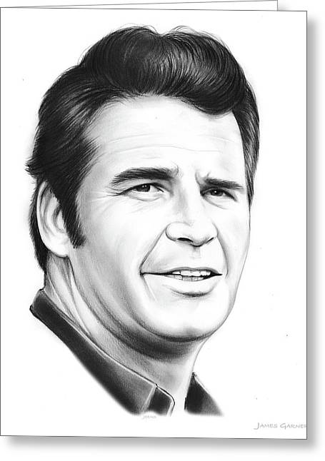 James Garner Greeting Card by Greg Joens
