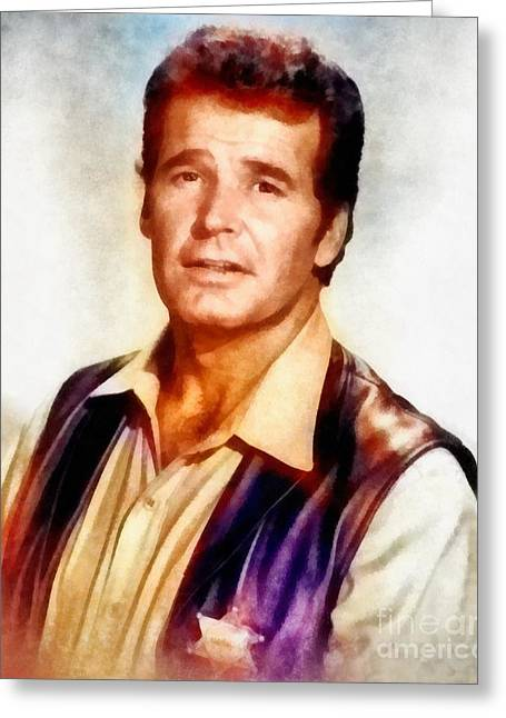 James Garner, Vintage Hollywood Actor Greeting Card
