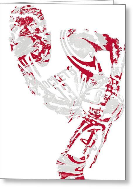 James Harden Houston Rockets Pixel Art 5 Greeting Card