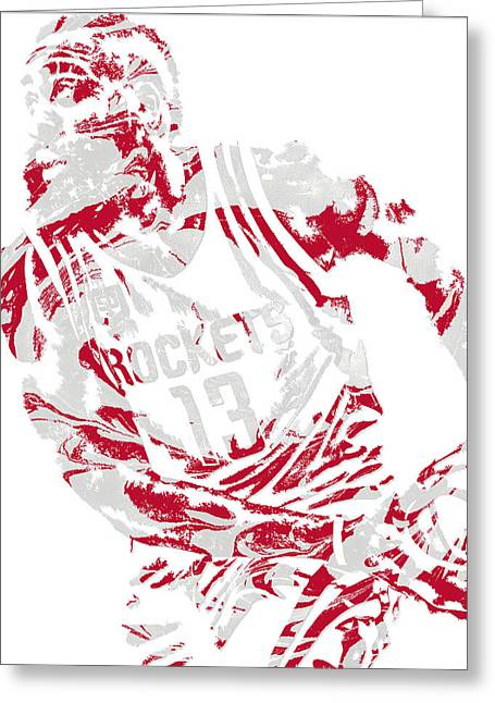James Harden Houston Rockets Pixel Art 7 Greeting Card