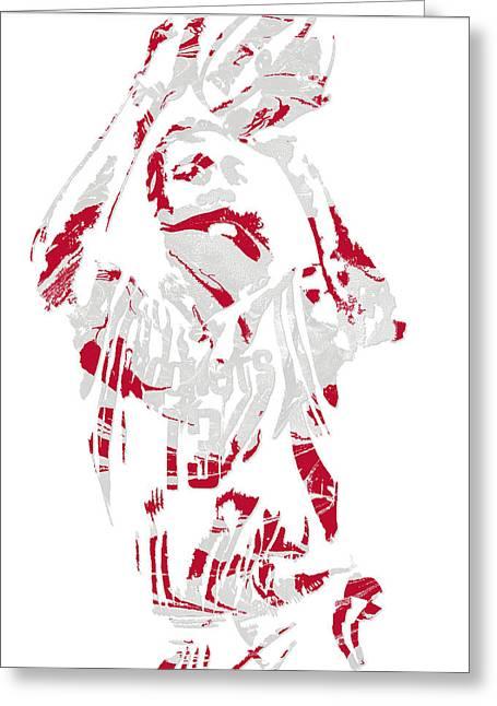 James Harden Houston Rockets Pixel Art 9 Greeting Card