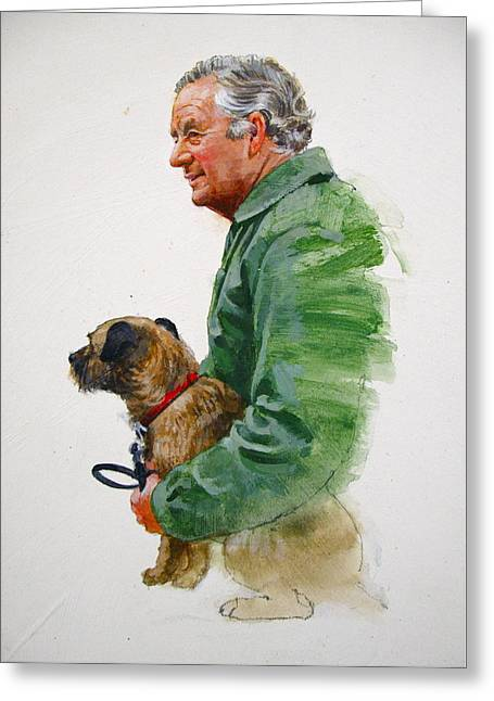 James Herriot And Bodie Greeting Card