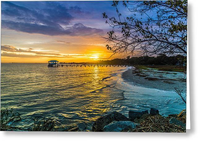 James Island Sunrise - Melton Peter Demetre Park Greeting Card by Donnie Whitaker