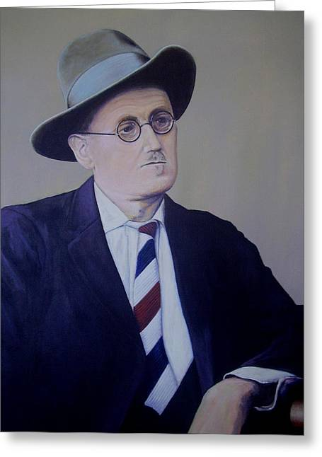 James Joyce Greeting Card by Eamon Doyle